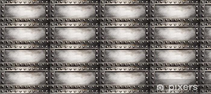 Papel de parede em vinil à sua medida Metal plate - Estilos