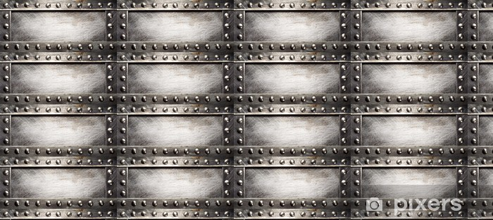 Spesialtilpasset vinyltapet Metallplate - Styles