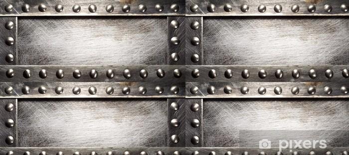 Vinyltapete Metal plate - Stile