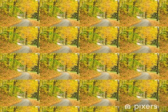 Papier peint vinyle sur mesure Bumpy Road et Pays Couleurs d'automne - Forêt