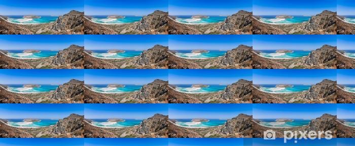 Papier peint vinyle sur mesure Vue d'ensemble de la plage de Balos, Crète, Grèce - Eau