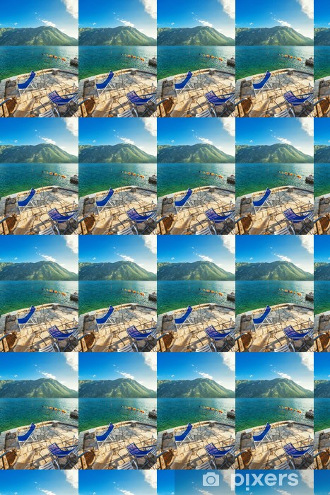 seafront with sea and mountain Vinyl Wallpaper - Mountains