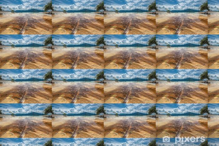 Måttanpassad vinyltapet Hierve el Agua, naturliga klippformationer i den mexikanska delstaten - Amerika