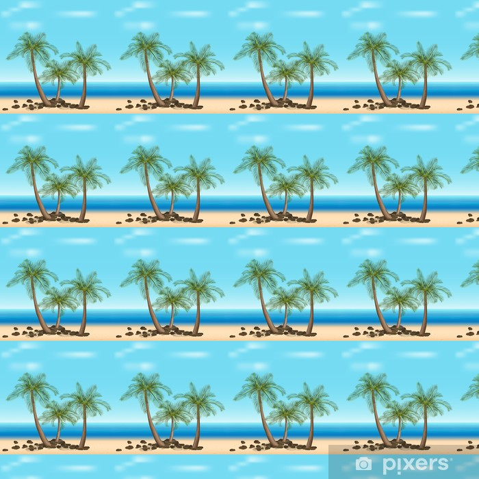 Tapeta na wymiar winylowa Palmy z zielonymi liśćmi - Palmy