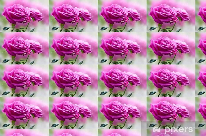 Vinyltapete nach Maß Zwei Rosen sind auf unscharfen Hintergrund - Blumen
