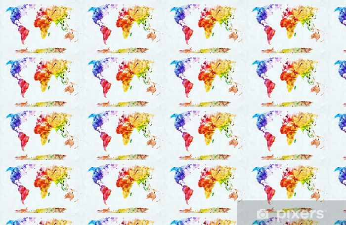 Watercolor World Map Wallpaper Pixers We Live To Change