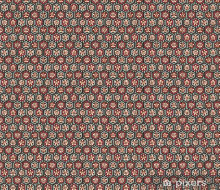 Tapeta na wymiar winylowa Japoński kwiatowy bez szwu tle kwiat śliwy - Moda