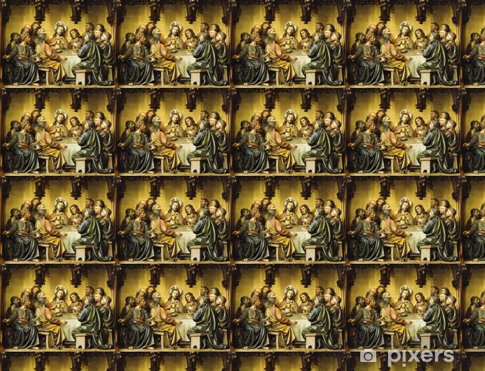 Papier peint vinyle sur mesure Religiösche Figurengruppe: Das letzte Abendmahl - Thèmes