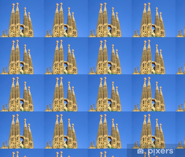 Tapeta na wymiar winylowa Katedry Sagrada Familia w Barcelonie, Hiszpania. WH UNESCO - Miasta europejskie