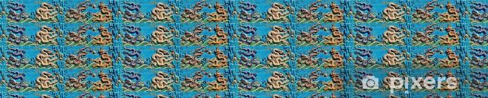 Papier peint vinyle sur mesure Neuf-Dragon mur - Propriétés privées