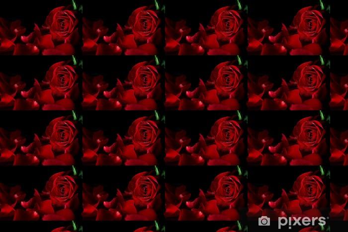 Vinyl behang, op maat gemaakt Rode roos - Internationale Vieringen