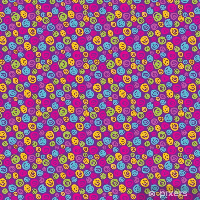 Carta da parati in vinile su misura Sfondo astratto geometrica - Seamless Vector Pattern - Astratto