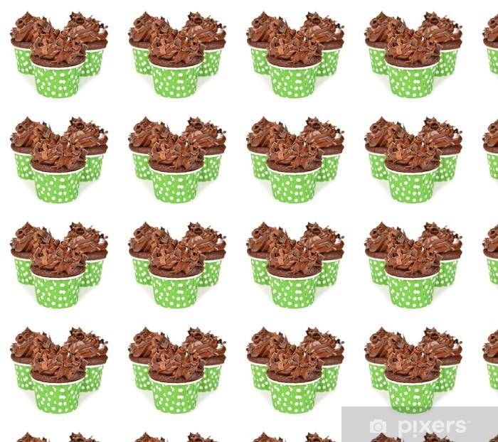 Papier peint vinyle sur mesure Petits gâteaux au chocolat - Desserts et friandises