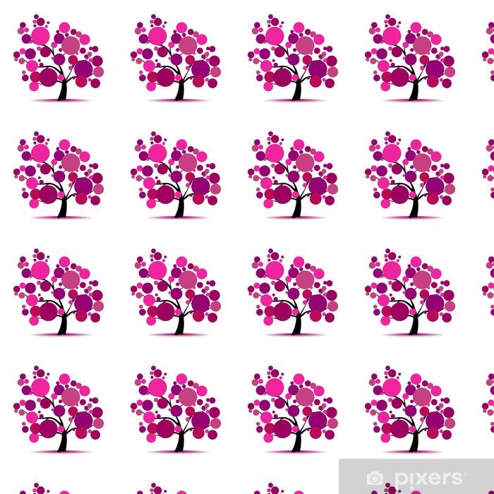 Tapeta na wymiar winylowa Drzewa na fioletowy tekst - Drzewa
