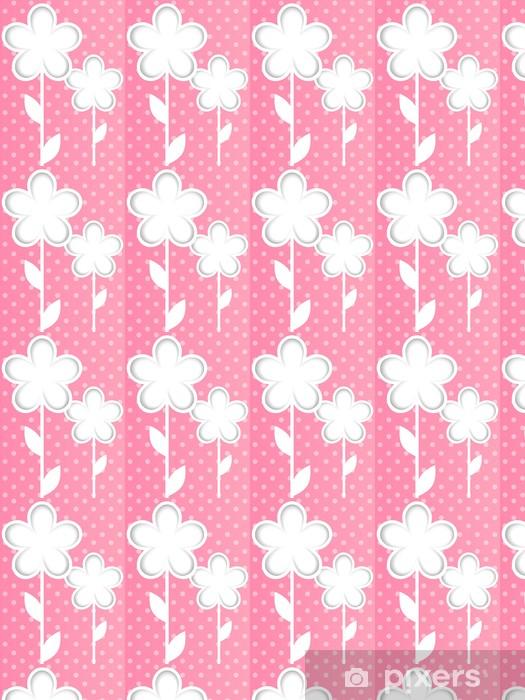 Papier peint vinyle sur mesure Fleurs en papier - Arrière plans