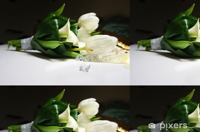Tapete Schone Hochzeitsstrauss Aus Weissen Tulpen Und Callas Pixers