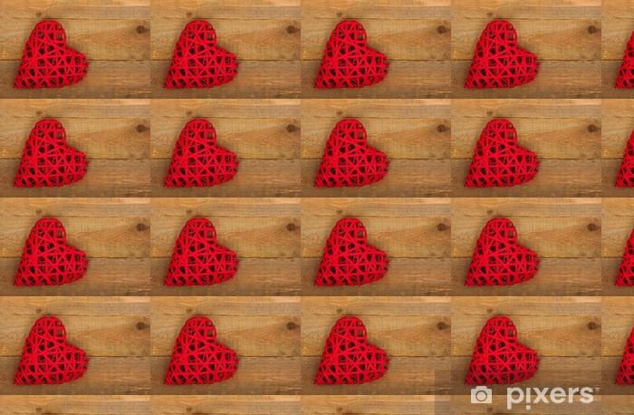 Tapeta na wymiar winylowa Serce na drewno - Szczęście