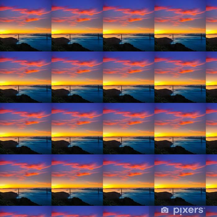 Tapeta na wymiar winylowa Golden Gate Bridge w San Francisco, wschód słońca, Kalifornia - Miasta amerykańskie