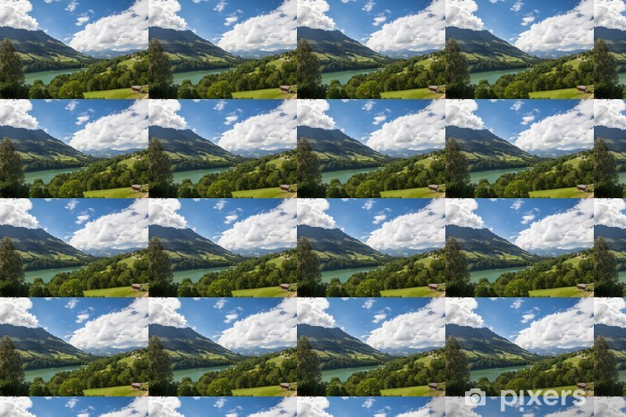 Tapeta na wymiar winylowa Rolling Krajobraz w Gruyere, Szwajcaria - Wakacje