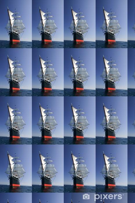 Tall Sailing Ship at Sea under full sail Vinyl custom-made wallpaper - Oceania