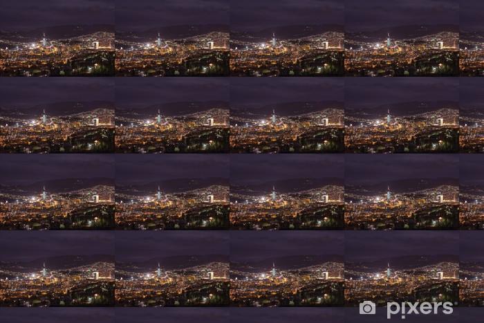 Tapeta na wymiar winylowa Sarajewo widok miasta w nocy - Europa