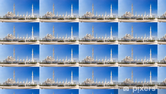 Tapeta na wymiar winylowa Abu Dhabi Meczet Sheikh Zayed biały - Bliski Wschód