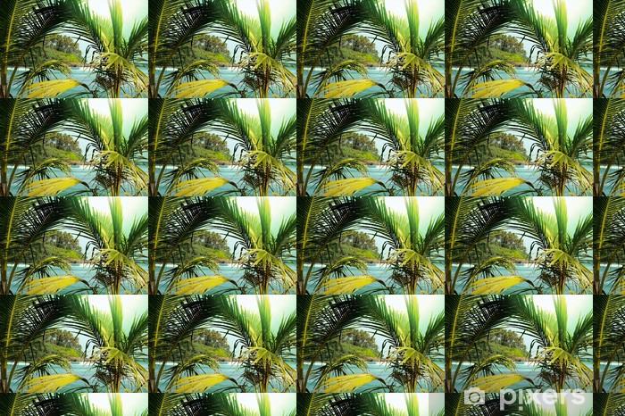 Papier peint vinyle sur mesure Tropical island - Thèmes