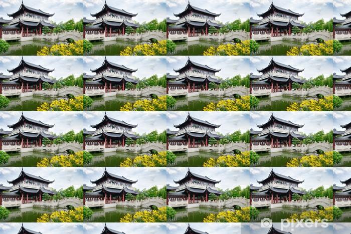 Måttanpassad vinyltapet Pagoda på sjön - Privata byggnader