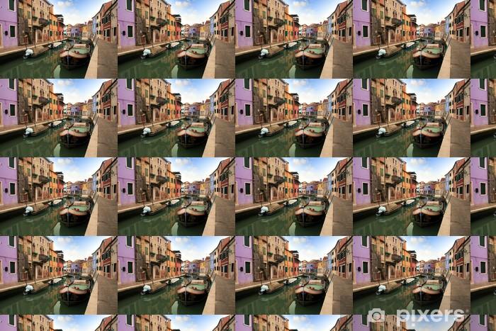 Papier peint vinyle sur mesure Les canaux et les maisons colorées de Burano île - Villes européennes