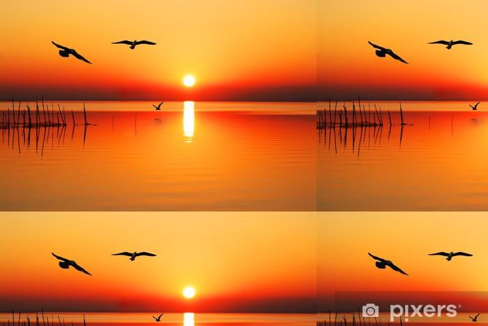 Vinylová Tapeta Létání oranžová jezero - Prázdniny