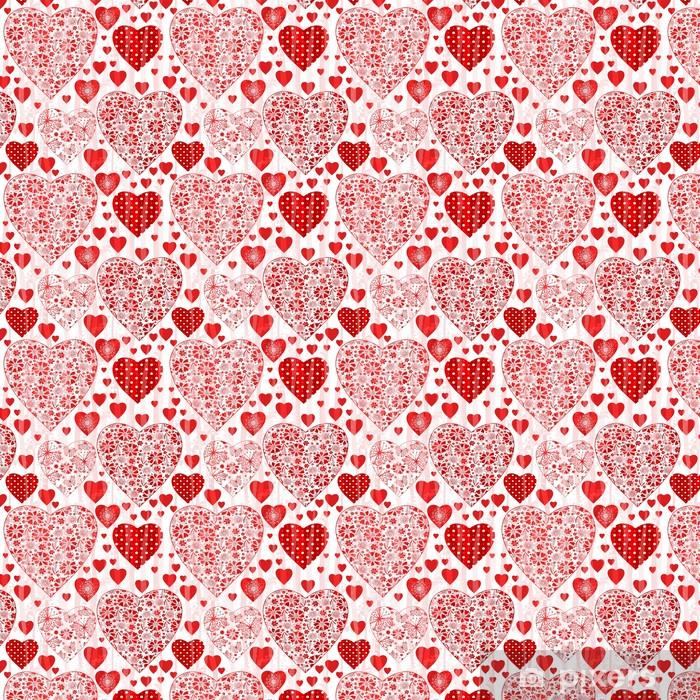 Papier peint vinyle sur mesure Motif de valentine transparente sale - Fêtes internationales