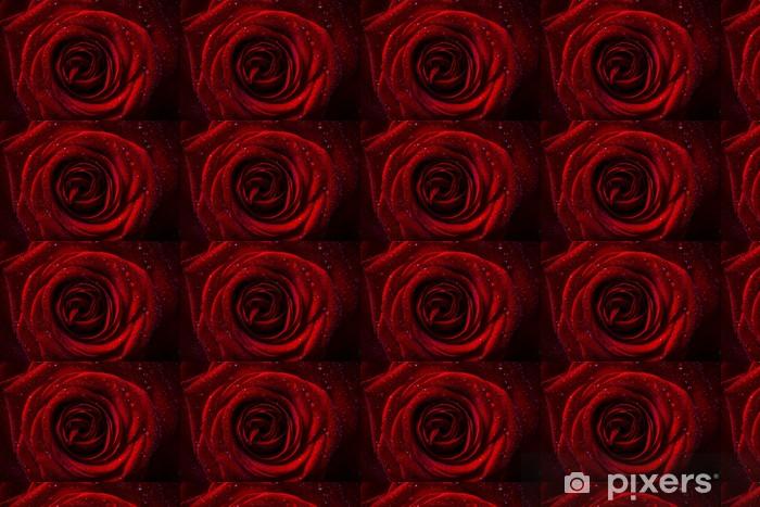 Papier peint vinyle sur mesure Naturel roses rouges fond - Animaux imaginaires