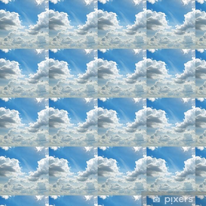 Papier peint vinyle sur mesure La lumière des nuages dans le ciel bleu - Thèmes