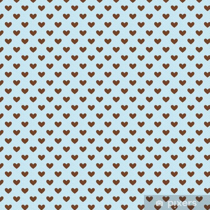 Vinyl behang, op maat gemaakt Naadloze hart structuurpatroon - Achtergrond