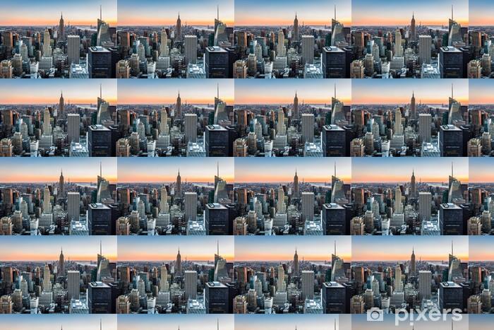 Tapeta na wymiar winylowa Panorama Nowego Jorku o zachodzie słońca -