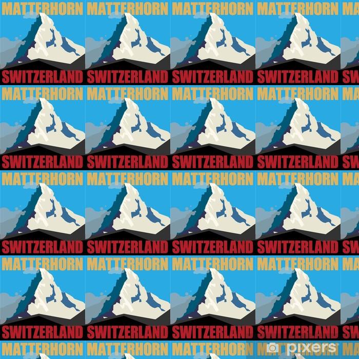 Tapeta na wymiar winylowa Zamontować Matterhorn przygody tle, ilustracji wektorowych - Wakacje