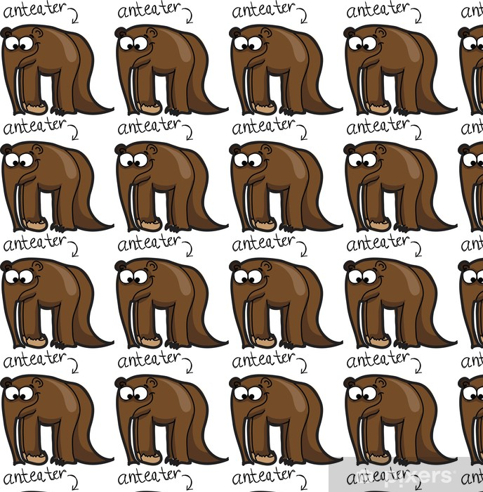 Vinyltapete Cartoon niedlich Ameisenbär - Säugetiere
