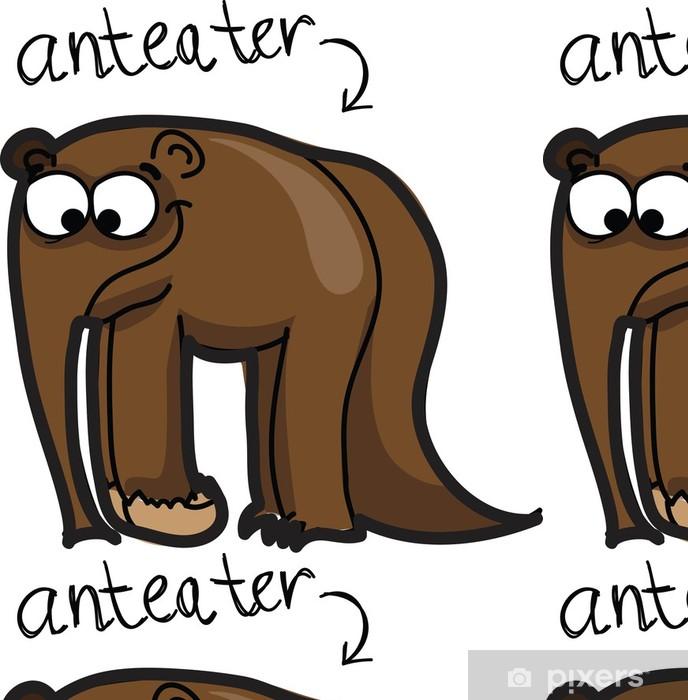 Papier peint à motifs vinyle Cartoon fourmilier mignon - Mammifères