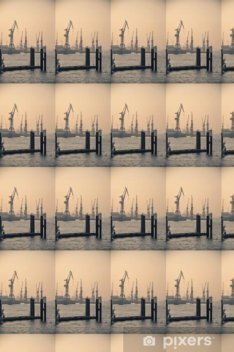 Vinylová tapeta na míru Hamburger Hafen Docks - Těžký průmysl