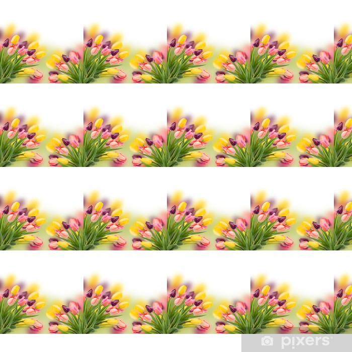 Tapeta na wymiar winylowa Pęczek tulipanów kwiaty z bliska - Szczęście