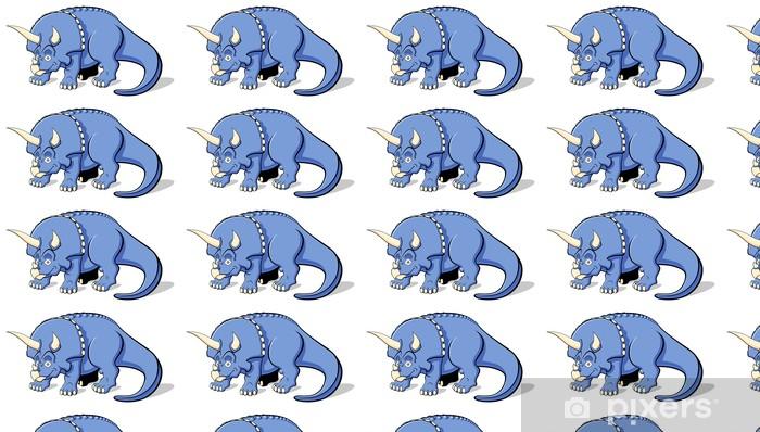 Vinyl behang, op maat gemaakt Triceratops voor kinderen - Muursticker