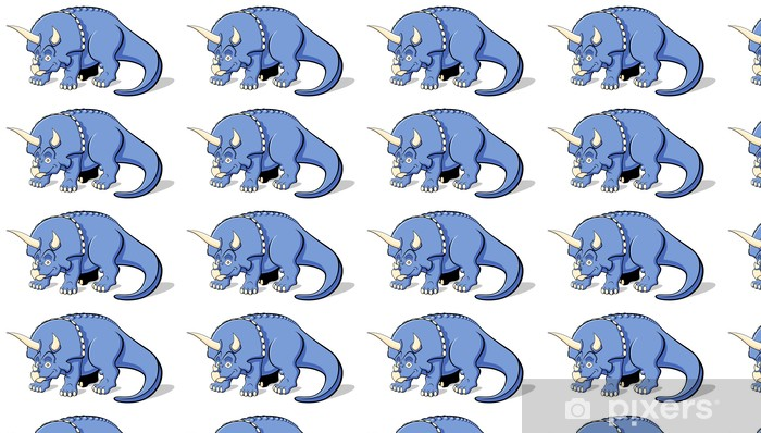 Papier peint vinyle sur mesure Triceratops pour les enfants - Sticker mural