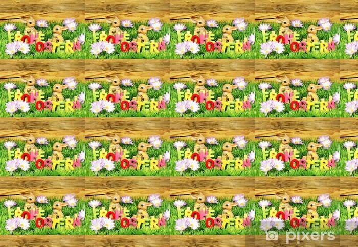 Vinylová tapeta na míru Veselé Velikonoce - Velikonoční dekorace s písmeny - Mezinárodní svátky