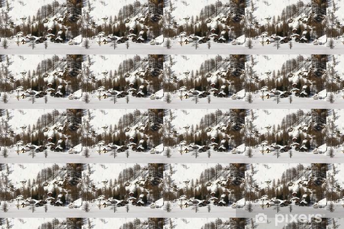 Papier peint vinyle sur mesure Les huttes Alpe Devero - Europe
