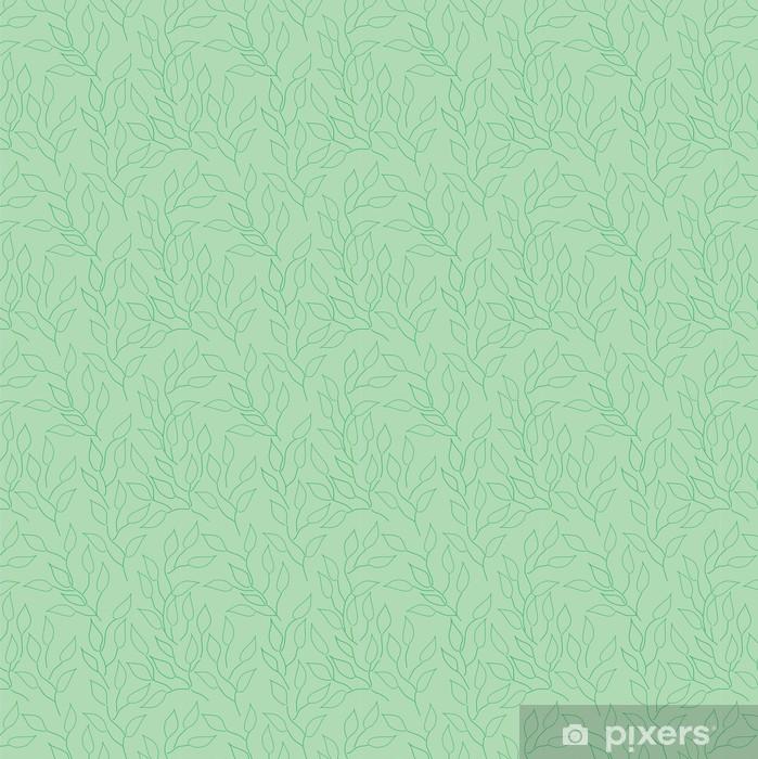 Papier peint vinyle sur mesure Seamless avec des feuilles - Agriculture