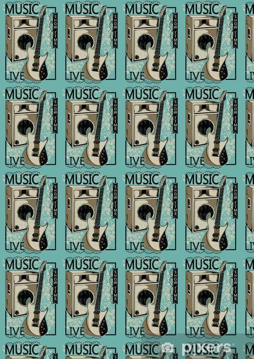 Papier peint vinyle sur mesure Live Music! - Signes et symboles