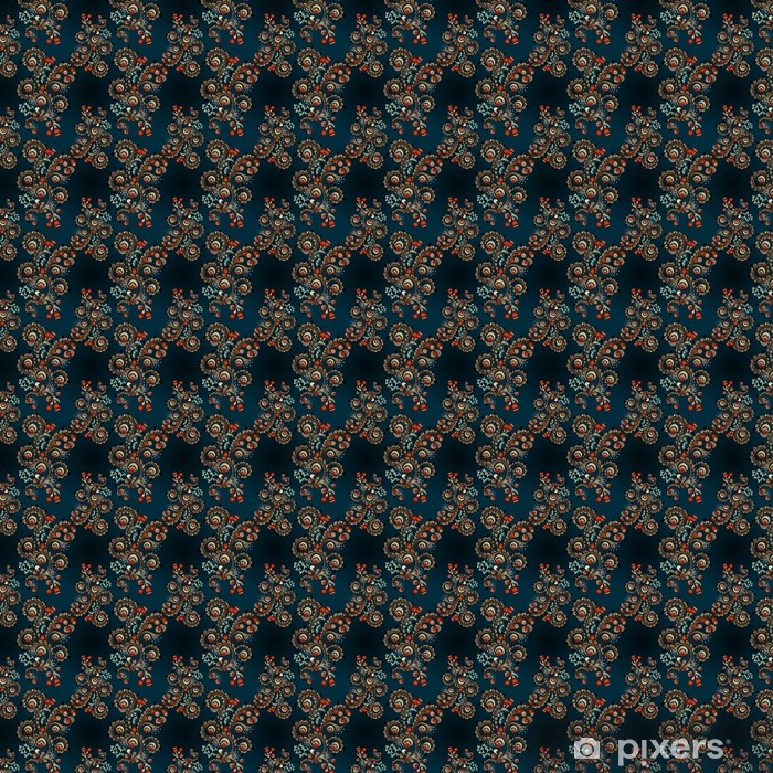 Seamless floral pattern with doodles and cucumbers Vinyl Custom-made Wallpaper - Finance