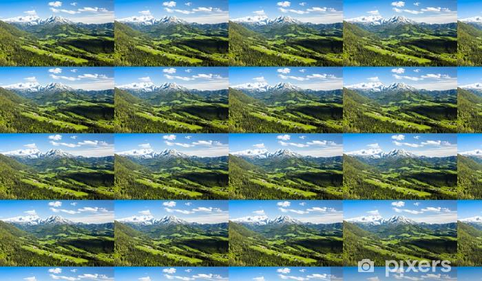 Vinyl behang, op maat gemaakt Bekijken om Dachstein vanuit het westen, Opper-Oostenrijk-Stiermarken, Oostenrijk - Europa