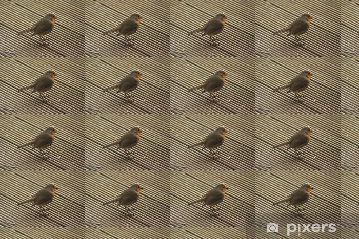 Papier peint vinyle sur mesure Robin européen (Erithacus rubecula) - Oiseaux