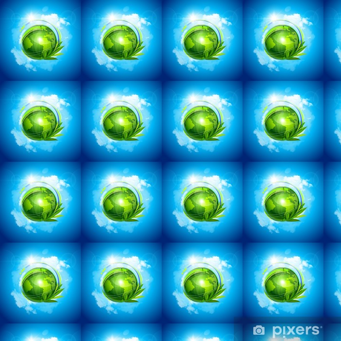 Tapeta na wymiar winylowa Zielona planeta vector - Przestrzeń kosmiczna